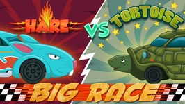 Hare VS Tortoise - An Aesops Fable - Car Race