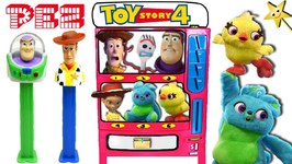 TOY STORY 4 PEZ Candy Machine Game w/ Toy Story PEZ Dispensers, Candy, Toys & Surprises