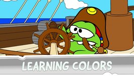 Learning Colors with Om Nom - Coloring Book - Pirate Ship
