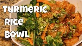 Shrimp And Turmeric Rice Bowl