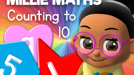 Learn to Count using numbers shapes and colours with Millie Maths