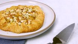 Apple Galette with Blue Cheese, Almonds, Honey