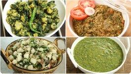 6 Healthy Vegetables For Winter / Winter Special Recipes / Undhiyu / Palak Ka Saag / Meethi Ki Sabzi