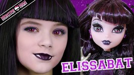 Monster High Elissabat Doll Makeup Tutorial for Halloween or Cosplay