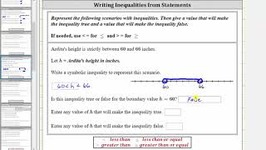 App - Write An Compound Inequality That Models A Situation