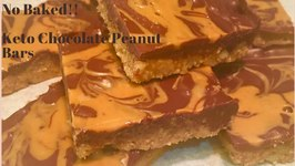 Keto No Baked Chocolate Peanut Butter Bars
