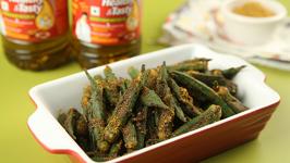 Achari Bhindi - How To Make Achari Bhindi/Okra - Achari Bhindi Masala - Stuffed Bhindi - Varun