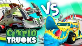 Yippii Vs Ness Seal - CryptoTruck Cartoons - Carnage Crew - Truck Videos For Toddlers