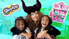 Toy Teacher Maleficent PRANKS Kids in Toy School!  Shopkins Super Mall Prank