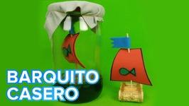 Barco casero con corcho  Manualidades infantiles para hacer juguetes