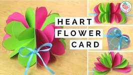 Pop-Up Flower And Pop-Up Heart Card - Paper Crafts Tutorial - Easy DIY Handmade Card Making