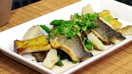 Chef Michael Adams-Bronzino With Sunchokes, Cauliflower, Primordia Mushrooms And Mushroom Jus Vignette