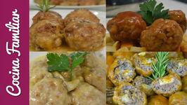 Albóndigas muy jugosas en salsa - Recetas caseras