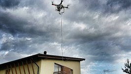 Drone Rescues Fellow Drone Stuck on Roof