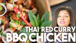 Thai Red Curry BBQ Chicken - 4 ingredient Grill, Pan or Oven recipe