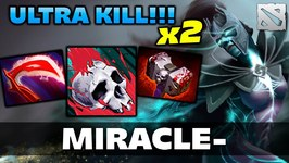 Miracle x2 ULTRA KILL Phantom Dota 2