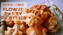 Pancetta And Cheese Flower Party Pastries