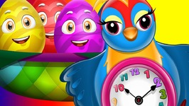 Surprise Eggs Nursery Rhymes Toys - Hickory Dickory Dock - Learn Colours