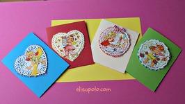 DIY, Cómo hacer Tarjetas de Navidad Vintage, Vintage Christmas Cards, Christmas Cards