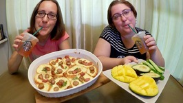 Bacon Casserole, Mangoes And Avocados-Gay Family Mukbang -Eating Show