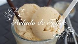 Helado De Caramelo De Toffee / Helado Con Heladera / Recetas De Helados / Como Hacer Helado Caramelo