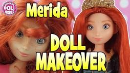 Disney Barbie Doll Makeovers Princess Merida from Brave