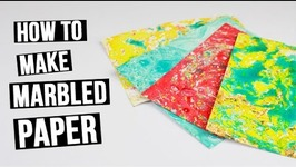 How to Make a Marbled Paper for Scrapbooking