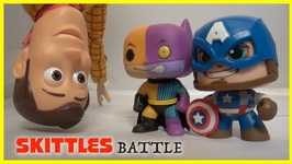 Toy Story 4 - Captain America And Batman Skittles Battle