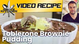 Toblerone Brownie Pudding