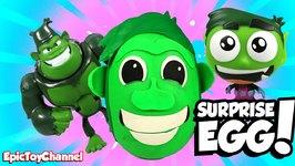 Surprise Eggs Teen Titans Go Beast Boy Giant Play-Doh Surprise With Original Teen Titans Toys