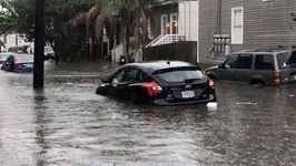 New Orleans Street Submerged After Torrential Rain