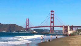 Warship Sails Under Golden Gate Bridge for Celebration of US Armed Forces
