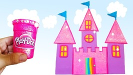 Learn Colors With Play Doh Making Colorful Rainbow Doll House Castle Princess Rapunzel