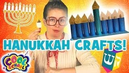 HANUKKAH CRAFTS - Holiday Crafts with Crafty Carol - Crafts for Kids - Cartoons for Kids