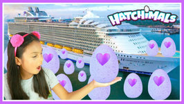 Giant Surprise Egg Hunt On The Worlds Largest Cruise Ship Family Fun Toys Challenge