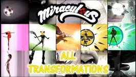 Miraculous Ladybug Game - All Transformations - Ladybug Cat Noir Rena Rogue Queen Bee Carapace