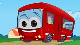 Wheels On The Bus - Nursery Rhyme - Red Bus