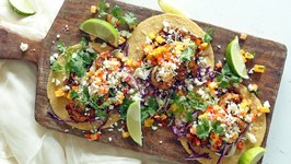 Spicy Grilled Shrimp Tacos With Papaya And Mango Salsa