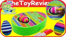 Eggmazing Egg Decorator Easter No Mess DIY Eggs Markers Spin Unboxing Toy Review