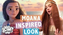 Moana Inspired Makeup - Outfit - HairTutorial