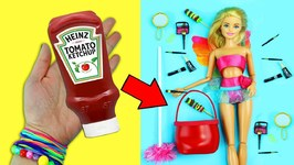 10 Amazing Barbie Doll Hacks - 9 - Easy Doll Crafts In 5 Minutes or Less