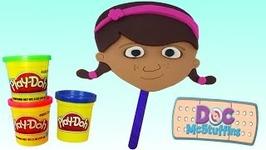 Doc McStuffins Play Doh Popsicle DIY Ice Cream Disney Jr Play Doh Mask Mold Slime Eyes