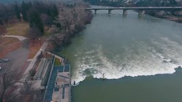Surfers Brave Cold Weather for Sacramento River Excursion