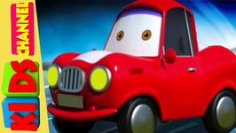 Baby Red Car - Tow Truck - Cartoon Songs For Toddlers