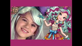 Ever After High Madeline Hatter Makeup Tutorial