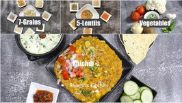 Winter Super Food Earthy How To 7-Grains And 5-Lentils With Vegetables Stew - Khichdi