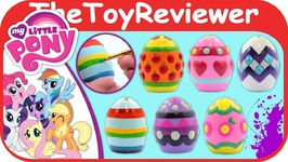 My Little Pony Plaster Easter Eggs MLP Painting Decorating Dye Unboxing Toy Review