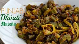 Bhindi Masala - Authentic Punjabi Style - Cut Okra Recipe