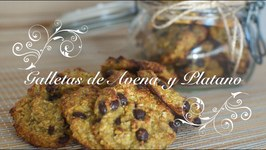 Galletas De Avena Y Platano Con Mango / Galletas Light / Galletas De Mango / Postres Light