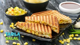 Grilled Corn And Capsicum Sandwich